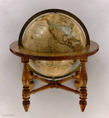 Loring's Terrestrial Globe containing all the Late Discoveries and Geographical Improvements, also the Tracks of the most celebrated Circumnavigators. Compiled from Smith's new English Globe, with additions and improvements by Annin & Smith. Boston: Josiah Loring, 136 Washington St. 1833.