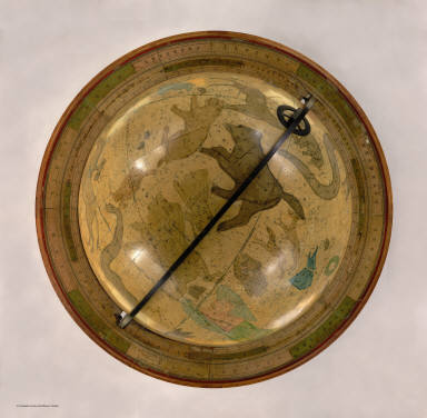 Improved Globe, Boston. Manufactured by Gilman Joslin, Corrected to 1870. Entered according to Act of Congress in the year 1852 by Charles Copley ... New York. (Celestial Globe).