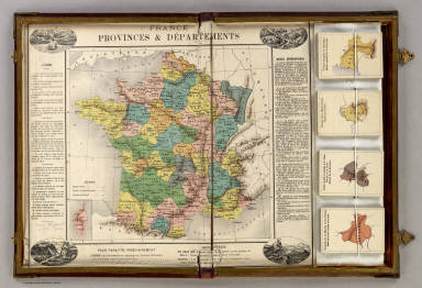 Geographical Map Of France.France Provinces Departments French Geographical Game 1870