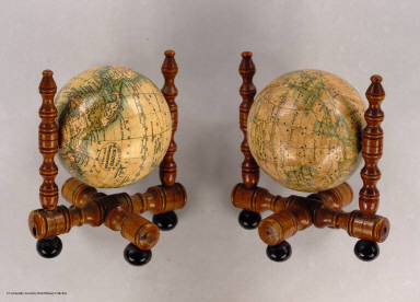 A three inch Terrestrial Globe by Wilson's & Co. Alby. (with) A Celestial Globe, With all the Stars of the 1st. 2d. & 3d. Magnitudes. By Wilson & Son's Alby.