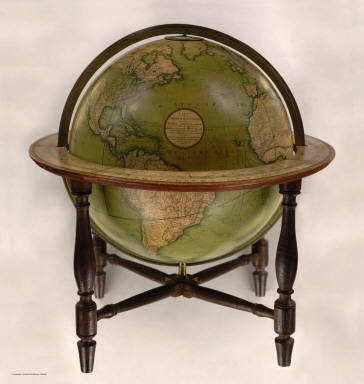 Cary's New Terrestrial Globe Exhibiting The Tracks and Discoveries made by Captain Cook, Also those of Captain Vancouver on the Northwest Coast of America and M. De La Perouse, On the Coast of Tartary, Together With every other Improvement collected from Various Navigators and Travellers to the present time. London: Made & Sold by J. & W. Cary, Strand, March 1st, 1816. With Corrections and Additions to 1818.