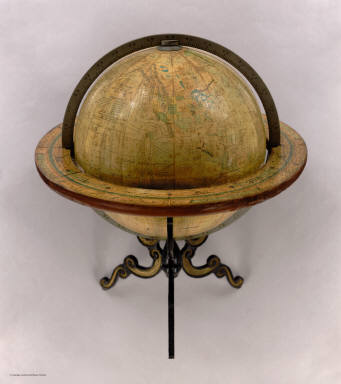 12 Inch Globe Manufactured By The Cheney Globe Co., Mystic, Conn. Copyright, 1896 by Flavius Cheney.