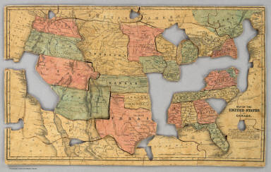 Map of the United States and Canada. Entered ... 1853 by Daniel Burgess & Co. ... New York.