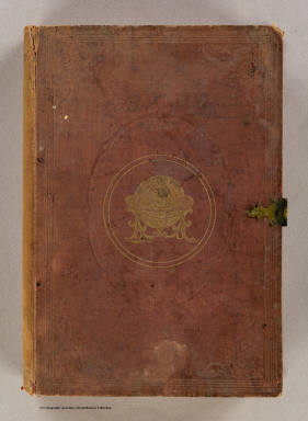 (Cover to) Map of the United States and Canada. Entered ... 1853 by Daniel Burgess & Co. ... New York.