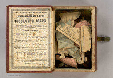 (Inside Cover to) Map of the United States and Canada. Entered ... 1853 by Daniel Burgess & Co. ... New York.
