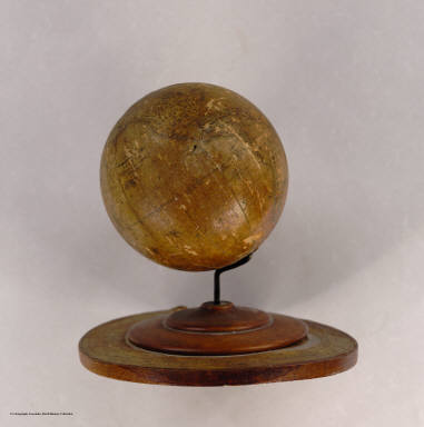 Terrestrial Globe. Made and Sold By Silas Cornell. Rochester, N.Y.