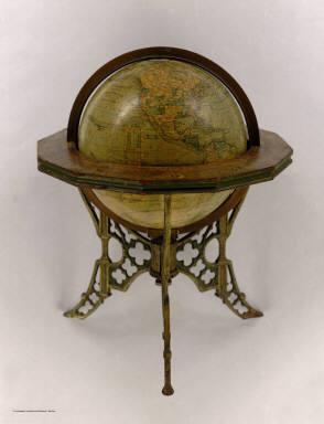 Andrews Eight Inch Terrestrial Globe with the latest discoveries and Oceanic currents. A.H. Andrews & Co. Chicago, Ill.