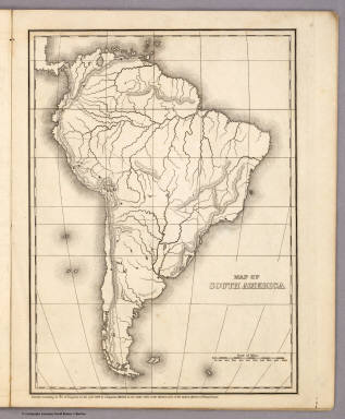 Map of South America. / Mitchell, Samuel Augustus / 1839