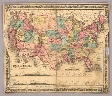 Index Map United States Of America Colton J H 1860