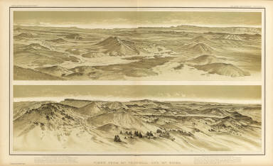 Views from Mt. Trumbull and Mt. Emma. W(illiam) H. H(olmes). Atlas Sheet X. Julius Bien & Co. lith. U.S. Geological Survey, Geology of the Grand Canon District.