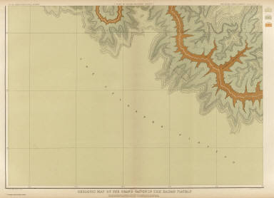 Geologic Map Of The Southern Part Of The Kaibab Plateau. [Part III. South-Western Sheet.] Atlas Sheet XIII. Geology by C.E. Dutton. Julius Bien & Co. lith. U.S. Geological Survey, Geology of the Grand Canon District.