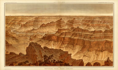 Panorama from Point Sublime. [Part II. Looking South.] W(illiam) H. H(olmes) Atlas Sheets XVI. Julius Bien & Co. lith. U.S. Geological Survey, Geology of the Grand Canon District.