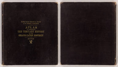 (Covers to) Department Of The Interior, United States Geological Survey, J.W. Powell Director. Atlas To Accompany The Monograph On The Tertiary History Of The Grand Canon District By Capt. Clarence E. Dutton U.S.A. Washington 1882. Julius Bien & Co. Lith. New York.