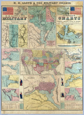 H.H. Lloyd & Co's Campaign Military Charts Showing The Principal Strategic Places Of Interest. / Lloyd, H.H. ; Viele, Egbert L ; Haskins, Charles / 1861