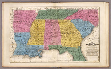 Map of the Southern States. / Mitchell, Samuel Augustus / 1839
