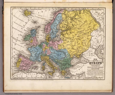 Map of Europe. / Mitchell, Samuel Augustus / 1839