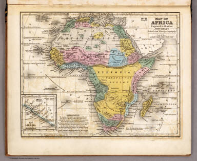 Map of Africa. / Mitchell, Samuel Augustus / 1839