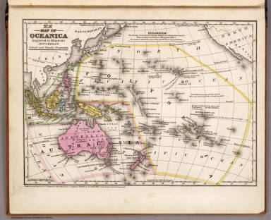 Map of Oceanica. Engraved to Illustrate Mitchell's School and Family Geography. No. 16. Engraved by J.H. Young. Entered ... 1839, by S. Augustus Mitchell ... Connecticut.