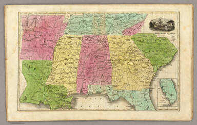 Southern States. (with) South Part of Florida. / Smiley, Thomas T. / 1842