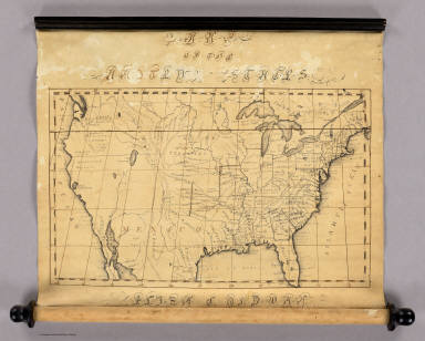 Map Of The United States. Eliza S. Ordway.