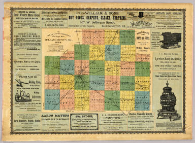 Map Of McLean County, Ill. 1886. / Weekly Pantagraph / 1886