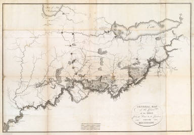 General Map of the Course of the Ohio. / Collot, George Henri Victor ; Tardieu, P.F. / 1796