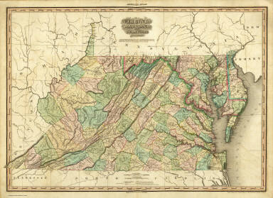 Virginia, Maryland and Delaware. / Tanner, Henry S. / 1823