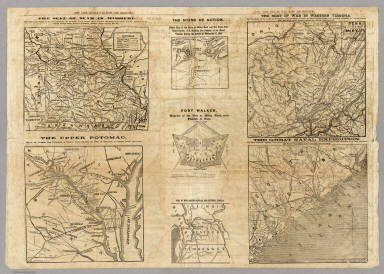 Seven maps from the New York Herald War Maps and Diagrams. / New York Herald ; Hall, E.S. / 1861