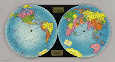 The Global Map. Pat. No. D136173, Other Patents Pending. The Global Map Co. Minneapolis, Minn.