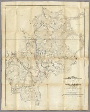 Map Of The Country Between Monterey, Tenn. & Corinth, Miss. / Matz, Otto H. / 1862