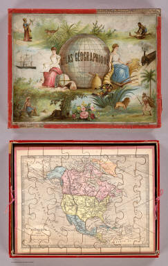 (Covers to) Atlas Geographique.
