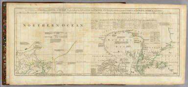 A Chart of North and South America, including the Atlantic and Pacific Oceans, with the nearest Coasts of Europe, Africa, and Asia. Chart containing part of the Icy Sea with the adjacent Coast of Asia and America. Chart comprizing Greenland with the Countries and Islands about Baffins Bay and part of Hudsons Bay. Publish'd ... 10 June 1775, by Robt. Sayer & J. Bennett ... Fleet Street. No. II.