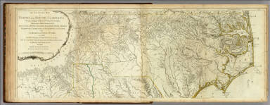 Map Of North And South Carolina With Their Indian Frontiers. (Northern Section) / Jefferys, Thomas / 1776