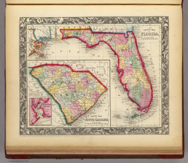 Florida Map By County.County Map Of Florida Mitchell Samuel Augustus 1860