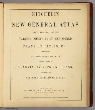 Title Page: Mitchell's new general atlas. / Mitchell, Samuel Augustus / 1860