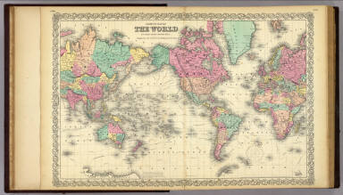 Coltons Map Of The World On Mercators Projection