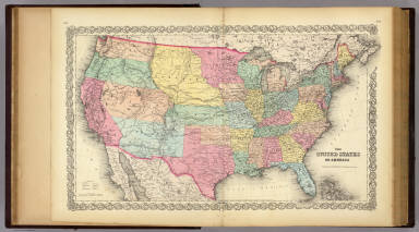 The United States Of America. / Colton, G.W. / 1856