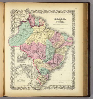 Brazil And Guayana. / Colton, G.W. / 1856