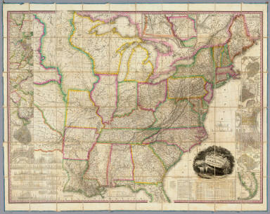 United States of America: by H.S. Tanner, 1829. Entered ... the 10th day of June, 1829, by H.S. Tanner ... Pennsylvania. Engraved by H.S. Tanner, assisted by E.B. Dawson, W. Allen & J. Knight.