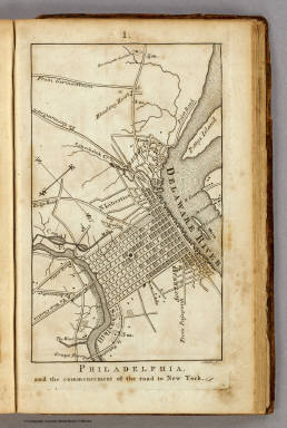 Philadelphia and the commencement of the road to New York. 1. Shallus fc.