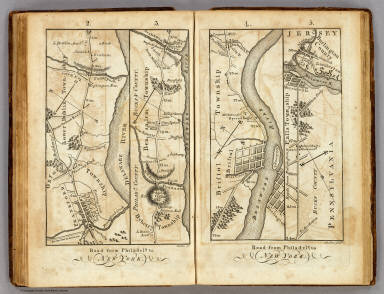 Road from Philadela. to New York. (Maps) 2, 3, 4 and 5. Shallus, fc.