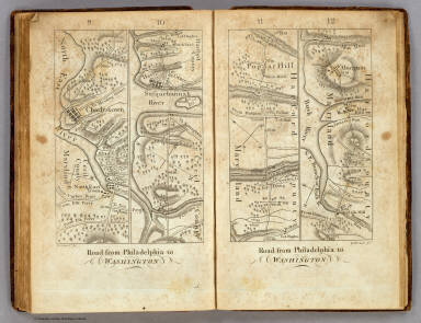 Road from Philadelphia to Washington. (Maps) 9, 10, 11 and 12. W. Harrison, Junr. sc.