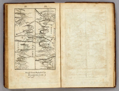 Road from Philadelphia to Washington. (Maps) 19 and 20. / Moore, S.S. ; Jones, T.W. / 1802