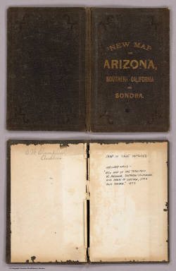 (Covers to) New Map Of The Territory Of Arizona, Southern California And Parts Of Nevada, Utah And Sonora. Compiled from the latest authentic data by Lieut. J.C. Mallery, A.M., U.S. Engineer Corps, and J.W. Ward, Civil & Topographical Engineer. 1876. 1877. Office 105 Stockton St. San Francisco. Payot, Upman & Company, Publishers and Wholesale Stationers, 204 Sansome Street, (near Pine) San Francisco. Britton, Rey & Co. Lithrs. S.F. Entered ... 1876, by Lieut. J.C. Mallery & J.W. Ward ... Washington. (with 3 inset profiles) Geological Sections From The Verde River To The Gila River, Arizona Ter ...