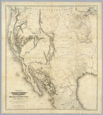 Of The United States US War Department Topographical - 1850 map of us