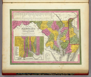 New Map Of Maryland and Delaware. / Mitchell, Samuel Augustus / 1846