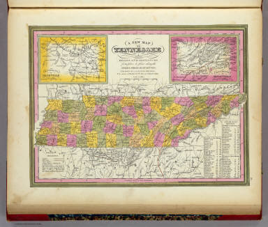 New Map Of Tennessee. / Mitchell, Samuel Augustus / 1846