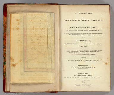 Title Page: Connected view of the whole internal navigation of the United States. / (Armroyd, George) ; Tanner, Henry S. / 1830