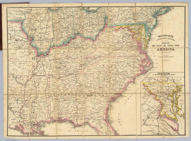 Map Of The Seat Of Civil War In America. / Davies & Co. / 1862