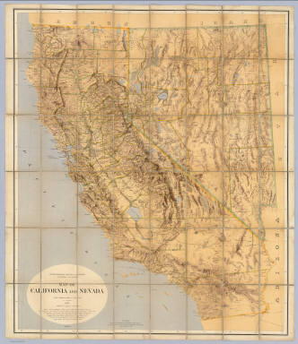 State Geological Survey Of California, J.D. Whitney, State Geologist. Map Of California And Nevada. Drawn By F.v. Leicht And A. Craven ... J. Bien, Lith. N.Y. 2nd edition Revised by Hoffmann and Craven and issued by authority of the Regents of the University of California given May 12th 1874.